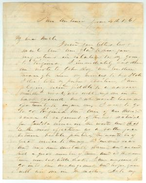 Primary view of object titled '[Letter to R.E.B. Baylor from John R. Baylor, June 4, 1861]'.