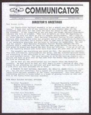 Primary view of object titled 'Western Area Communicator, Volume 1, No. 8, September 1986'.