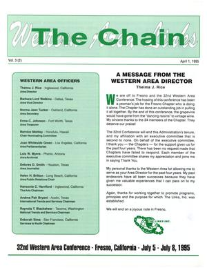 Primary view of object titled 'The Chain, Volume 3, Number 2, April 1995'.
