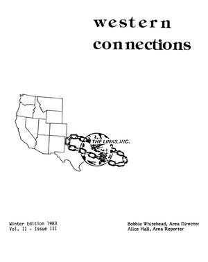 Primary view of object titled 'Western Connections, Volume 2, Number 3, Winter 1983'.