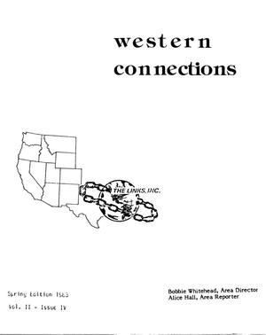 Primary view of object titled 'Western Connections, Volume 2, Number 4, Spring 1983'.