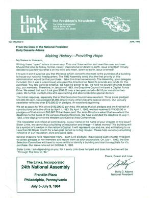 Primary view of object titled 'Link to Link: The President's Newsletter, Volume 2, Number 3, June 1983'.