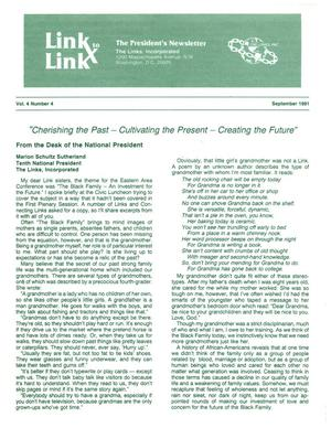 Primary view of object titled 'Link to Link: The President's Newsletter, Volume 4, Number 4, September 1991'.