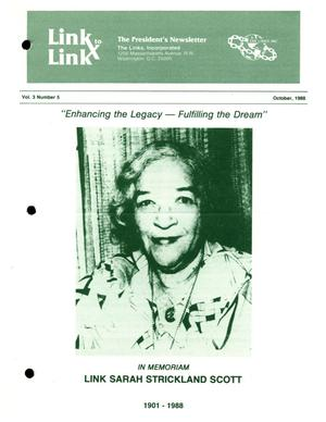 Primary view of object titled 'Link to Link: The President's Newsletter, Volume 3, Number 5, October 1988'.