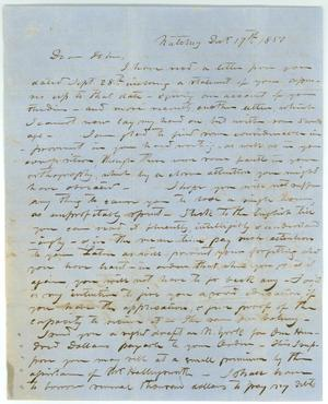 Primary view of object titled '[Letter to John from his Uncle V. Metcalfe, December 17, 1850]'.