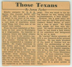 Primary view of object titled 'Those Texans'.