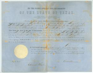 Primary view of object titled '[Election Certificate]'.