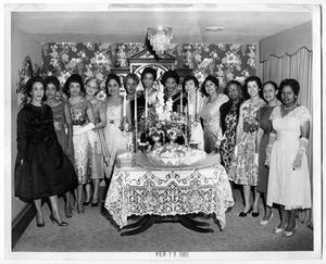 Primary view of object titled '[Chapter of the Links, Inc., Group Portrait During Formal Event]'.