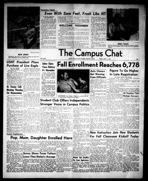 Primary view of object titled 'The Campus Chat (Denton, Tex.), Vol. 44, No. 1, Ed. 1 Friday, September 16, 1960'.