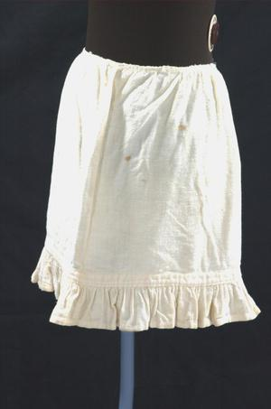 Primary view of object titled 'Flannel petticoat'.