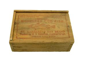 Primary view of object titled 'Wooden box - Choice Boneless Cod Fish'.