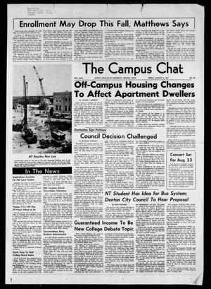 Primary view of object titled 'The Campus Chat (Denton, Tex.), Vol. 50, No. 65, Ed. 1 Friday, August 4, 1967'.