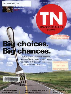 Primary view of object titled 'Transportation News, Volume 33, Number 1,  January - February [2008]'.