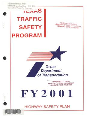 Primary view of object titled 'Texas Highway Safety Plan, 2001'.