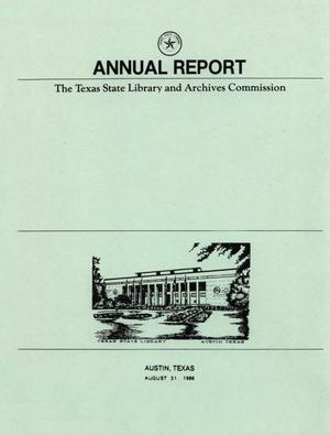 Primary view of object titled 'Texas State Library and Archives Commission Annual Financial Report: 1986'.