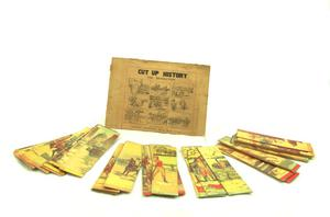 "Primary view of object titled 'Cardboard puzzle ""Cut Up History""'."