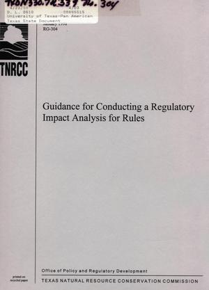 Primary view of object titled 'Guidance for Conducting a Regulatory Impact Analysis for Rules'.