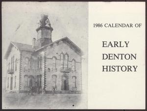 Primary view of object titled '1986 Calendar of Early Denton History'.