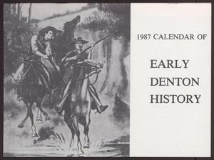 Primary view of object titled '1987 Calendar of Early Denton History'.