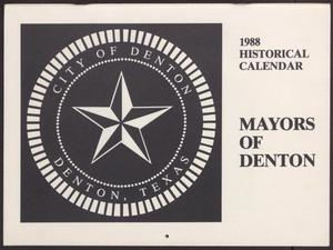 Primary view of object titled '1988 Historical Calendar: Mayors of Denton'.