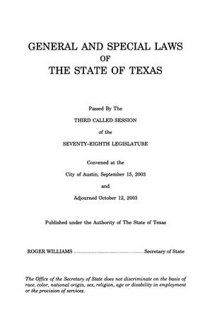 Primary view of object titled 'General and Special Laws of The State of Texas Passed By The Regular Session of the Seventy-Ninth Legislature, Volume 1'.