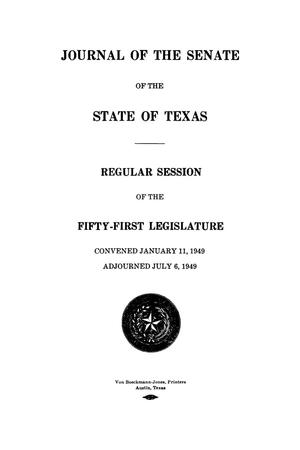 Primary view of object titled 'Journal of the Senate of the State of Texas, Regular Session of the Fifty-First Legislature'.
