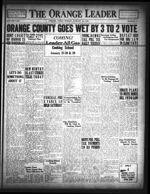 The Orange Leader (Orange, Tex.), Vol. 23, No. 21, Ed. 1 Sunday, January 26, 1936