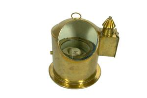 Primary view of object titled 'Brass binnacle'.