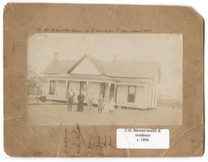 Primary view of object titled 'C. H. Blewett Family and Residence, Richardson, Texas'.