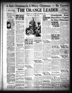 Primary view of object titled 'The Orange Leader (Orange, Tex.), Vol. 27, No. 307, Ed. 1 Tuesday, December 24, 1940'.