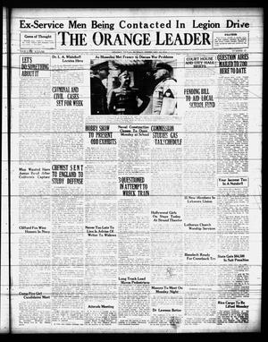 Primary view of object titled 'The Orange Leader (Orange, Tex.), Vol. 28, No. 37, Ed. 1 Sunday, February 16, 1941'.
