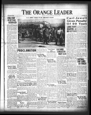 Primary view of object titled 'The Orange Leader (Orange, Tex.), Vol. 28, No. 136, Ed. 1 Wednesday, June 11, 1941'.