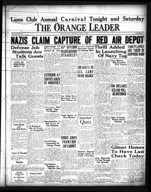 Primary view of object titled 'The Orange Leader (Orange, Tex.), Vol. 28, No. 167, Ed. 1 Friday, July 18, 1941'.
