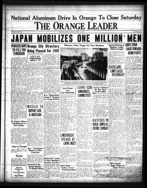 Primary view of object titled 'The Orange Leader (Orange, Tex.), Vol. 28, No. 173, Ed. 1 Friday, July 25, 1941'.