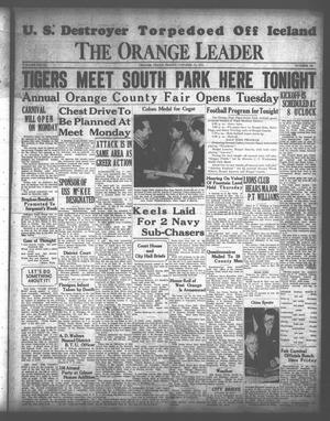 Primary view of object titled 'The Orange Leader (Orange, Tex.), Vol. 28, No. 244, Ed. 1 Friday, October 17, 1941'.