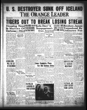 Primary view of object titled 'The Orange Leader (Orange, Tex.), Vol. 28, No. 256, Ed. 1 Friday, October 31, 1941'.