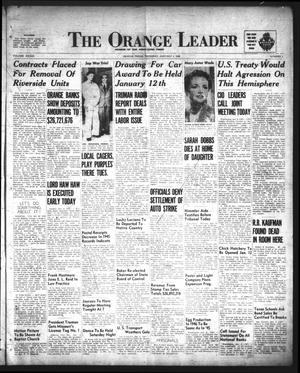Primary view of object titled 'The Orange Leader (Orange, Tex.), Vol. 33, No. 2, Ed. 1 Thursday, January 3, 1946'.