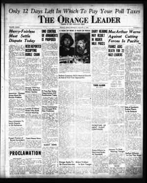 Primary view of object titled 'The Orange Leader (Orange, Tex.), Vol. 33, No. 14, Ed. 1 Thursday, January 17, 1946'.