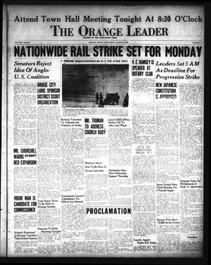 Primary view of object titled 'The Orange Leader (Orange, Tex.), Vol. 33, No. 54, Ed. 1 Wednesday, March 6, 1946'.
