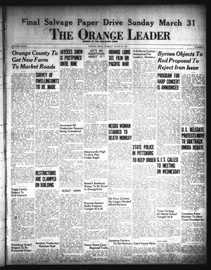 Primary view of object titled 'The Orange Leader (Orange, Tex.), Vol. 33, No. 71, Ed. 1 Tuesday, March 26, 1946'.