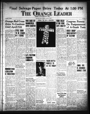 Primary view of object titled 'The Orange Leader (Orange, Tex.), Vol. 33, No. 75, Ed. 1 Sunday, March 31, 1946'.