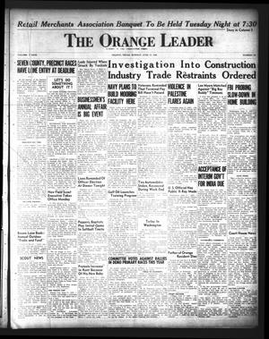 Primary view of object titled 'The Orange Leader (Orange, Tex.), Vol. 33, No. 142, Ed. 1 Monday, June 17, 1946'.