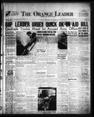 Primary view of object titled 'The Orange Leader (Orange, Tex.), Vol. 34, No. 277, Ed. 1 Monday, November 24, 1947'.