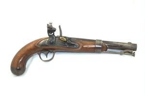 Primary view of object titled 'Flintlock pistol'.