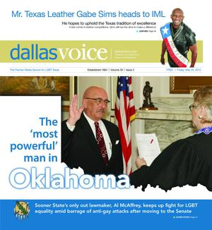 Primary view of object titled 'Dallas Voice (Dallas, Tex.), Vol. 29, No. 2, Ed. 1 Friday, May 25, 2012'.