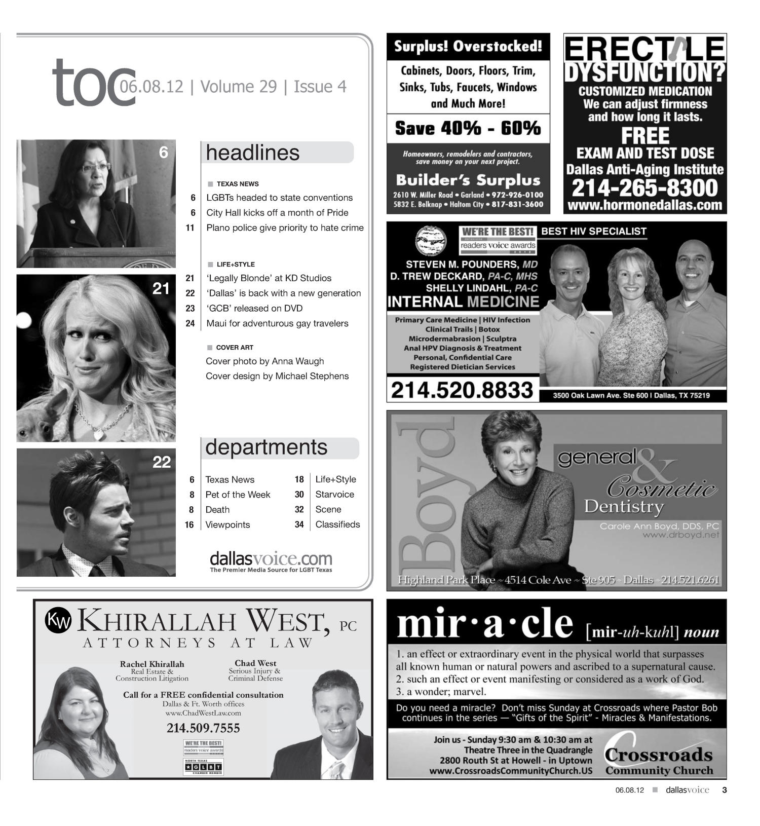 Dallas Voice (Dallas, Tex.), Vol. 29, No. 4, Ed. 1 Friday, June 8, 2012                                                                                                      [Sequence #]: 3 of 40