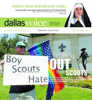 Primary view of object titled 'Dallas Voice (Dallas, Tex.), Vol. 29, No. 9, Ed. 1 Friday, July 13, 2012'.