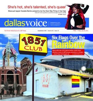 Primary view of object titled 'Dallas Voice (Dallas, Tex.), Vol. 29, No. 10, Ed. 1 Friday, July 20, 2012'.