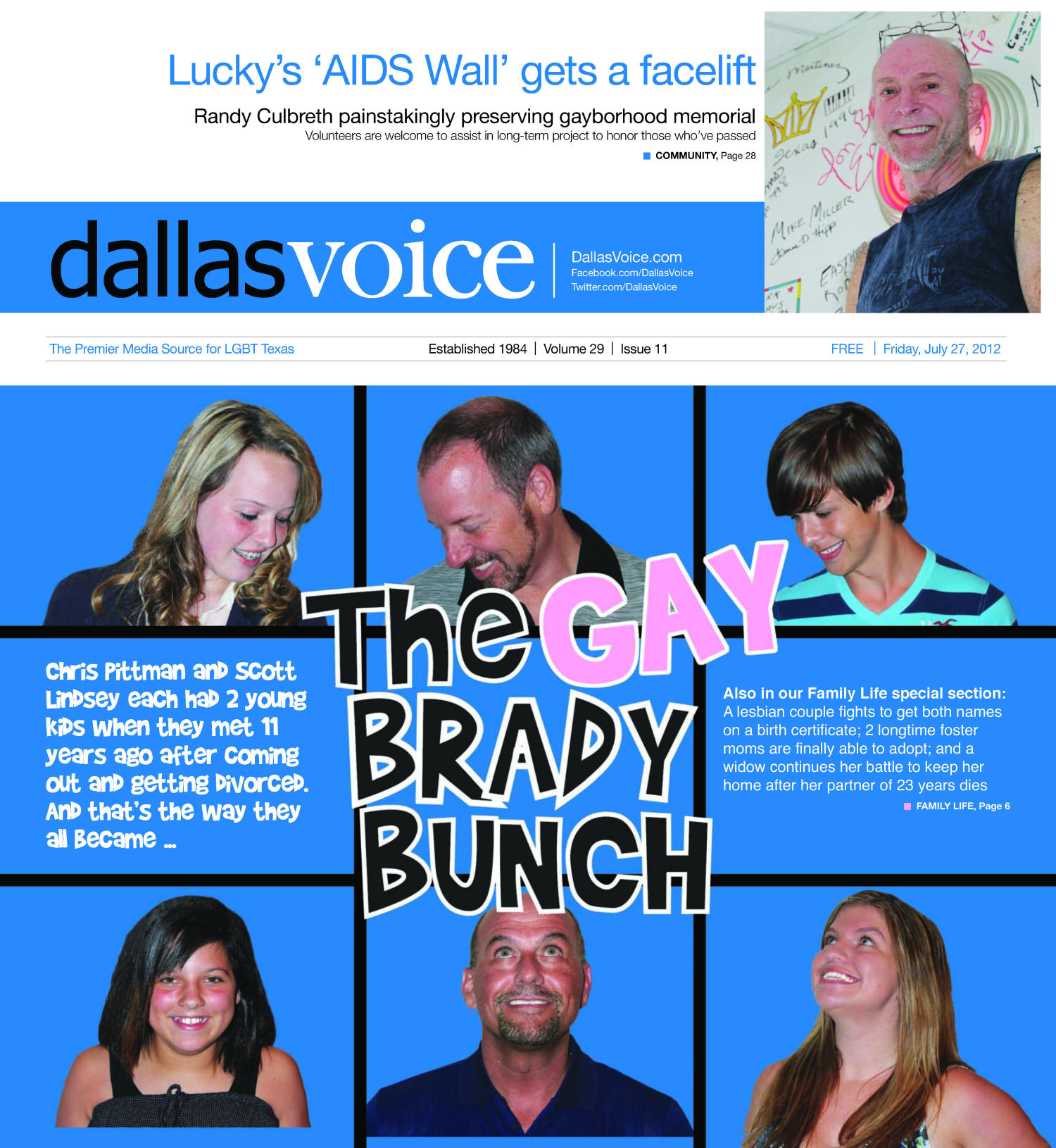 Dallas Voice (Dallas, Tex.), Vol. 29, No. 11, Ed. 1 Friday, July 27, 2012                                                                                                      [Sequence #]: 1 of 56
