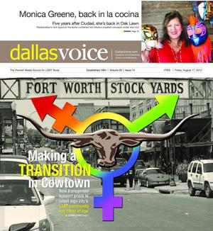 Primary view of object titled 'Dallas Voice (Dallas, Tex.), Vol. 29, No. 14, Ed. 1 Friday, August 17, 2012'.